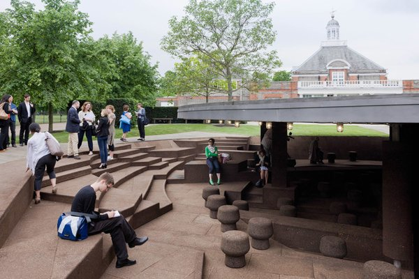 The 2012 Serpentine Pavilion designed by Herzog & de Meuron and Ai Weiwei. Photo by Iwan Baan.