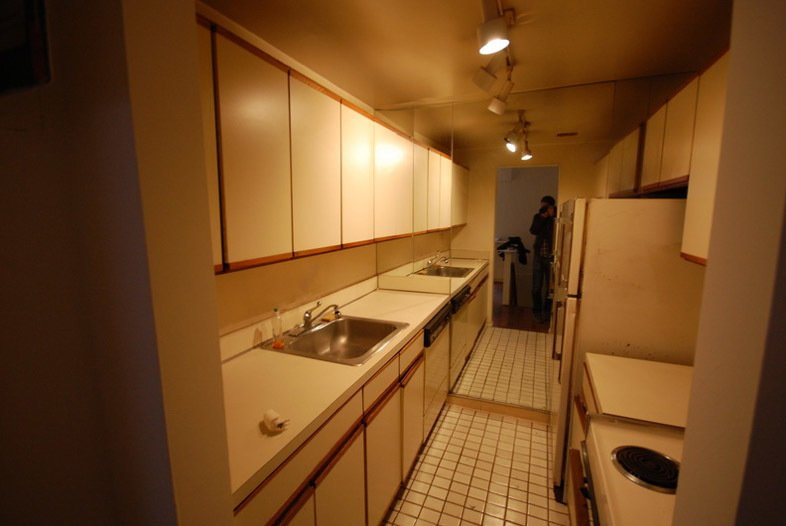 Here's what the kitchen looked like before.  University Place Apartment by Diana Budds