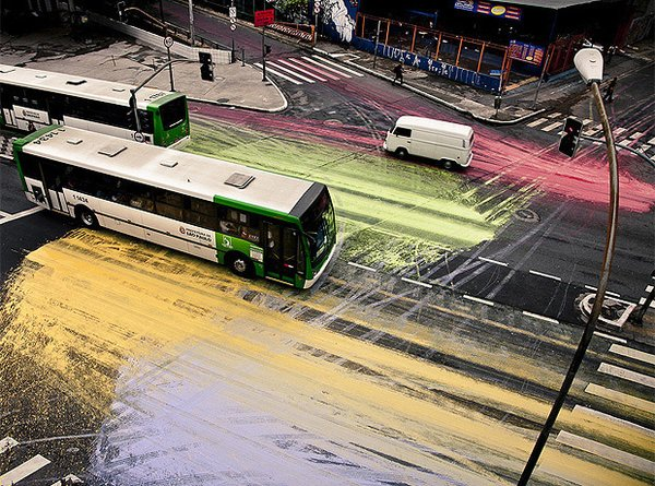 Painting the Streets of Sao Paulo.