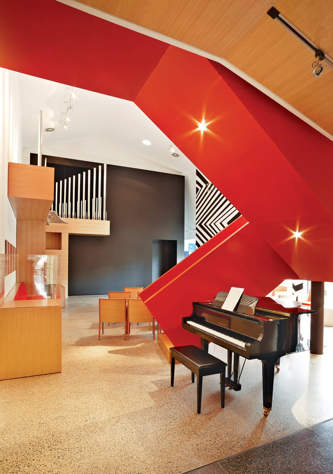 """Staircase The entire family makes good use of the music room, where they hold public and private Sunday concerts with local and international musicians.  Search """"staircase"""" from Ever Wanted to Live in an Art Gallery?"""