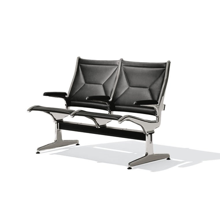 Ray Eames, O'Hare International Airport Tandem sling seating, 1962.  Designing Women by Kelsey Keith