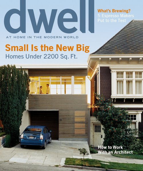 Lest you think the suburbs are breed only outsized homes, this Palo Alto abode proves otherwise in our 2005 issue Small is the New Big. Our cover story is about a San Francisco home built on a 20-foot-wide lot. Photo by: Todd Hido