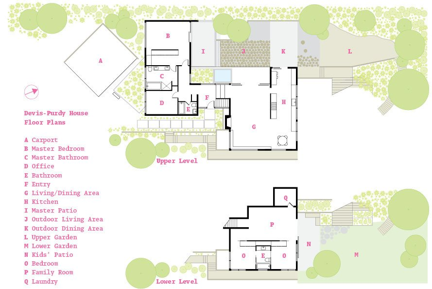 The floor plan.  Photo 13 of 13 in A Fresh Dose of Color Livens Up This Midcentury Los Angeles Home