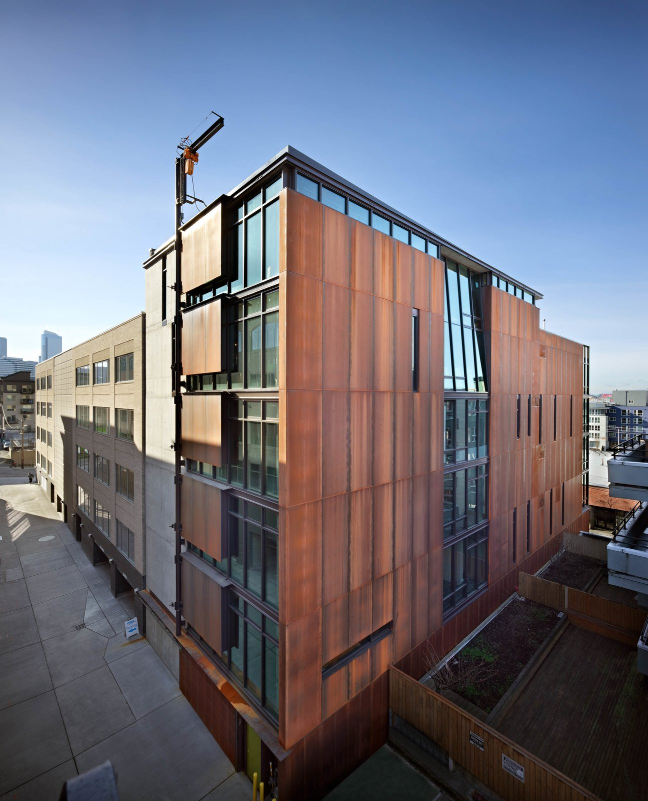 The firm designed Art Stable, an urban infill project in Seattle's rapidly developing South Lake Union neighborhood. The seven-story mixed-use building was erected on the site of a former horse stable.  Photo 2 of 7 in In Omaha, an Exhibit Celebrates 50 Years of Olson Kundig