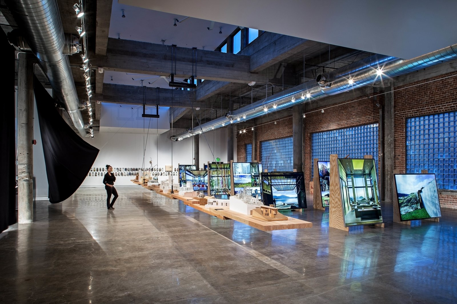A view of the Olson Kundig retrospective exhibition at KANEKO in Omaha, Nebraska.  Photo 7 of 7 in In Omaha, an Exhibit Celebrates 50 Years of Olson Kundig