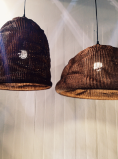 More hand-woven lighting by S.C. Vizcarra.