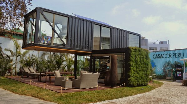 Peruvian-born designer Sachi Fujimori's Casa Reciclada, or Recycled House, was constructed from a used shipping container. Architects Anna Duelo, Úrsula Ludowieg OPhelan and Marc Koenig also collaborated on the project.