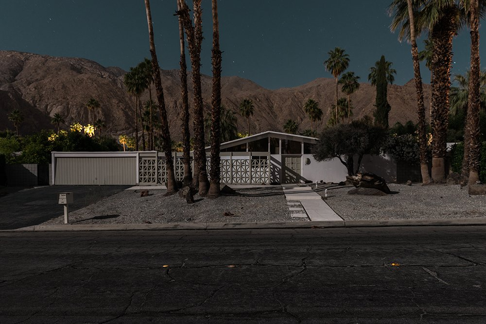 879 N Monte Vista, Palm Springs  Midcentury Modern Homes of Palm Springs Under Moonlight by Allie Weiss