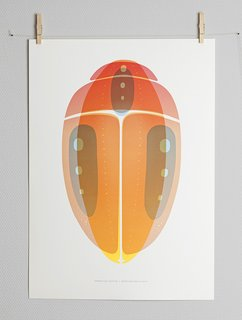 Beetle 02 print by Note Design Studio for Paper Collective, $62 at paper-collective.com  Following in the wake of Warby Parker, a business model that pairs philanthropy with e-commerce, there's no reason you're gift-giving this season shouldn't give back. Paper Collective, an art print purveyor from Copenhagen, contributes proceeds from every poster sold to the designer's charity of choice. The Stockholm design studio has created a series of overprinted posters with slight color field mismatches; the benefits go to Greenpeace.