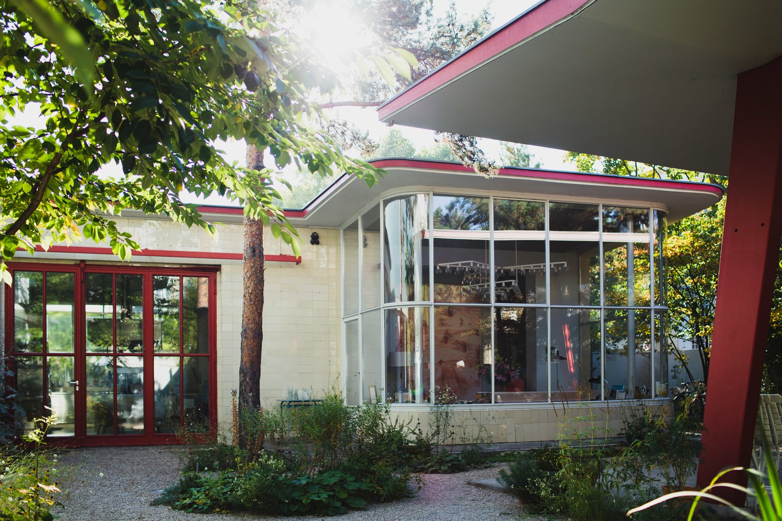 Modern home with Exterior, House Building Type, and Mid-Century Building Type. Judin was fascinated by the abandoned gas station ever since he first discovered it in 1992. At the time, it had been unused for seven years. He finally purchased it in 2005 and transformed it into a one-of-a-kind residence. Photo  of An Incredible Home Inside a 1950s Gas Station