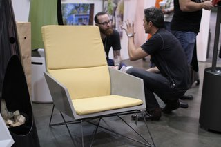 Hard Goods's modern Muskoka chair won first place in the very competitive Furniture category.