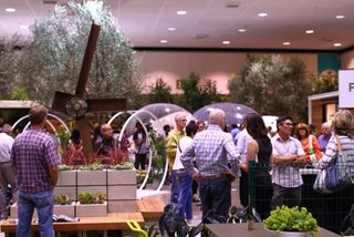 An overview of the Dwell Outdoor section, which encompasses over 25,000 square feet and more than 50 exhibitors.