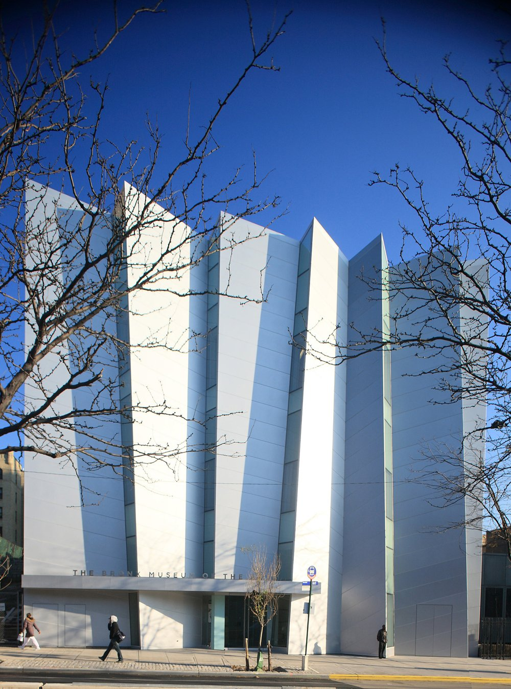One of Arquitectonica's civic projects is the Bronx Museum of the Arts. Photo by Norman McGrath.  Museums from Corporate Wisdom: Laurinda Spear