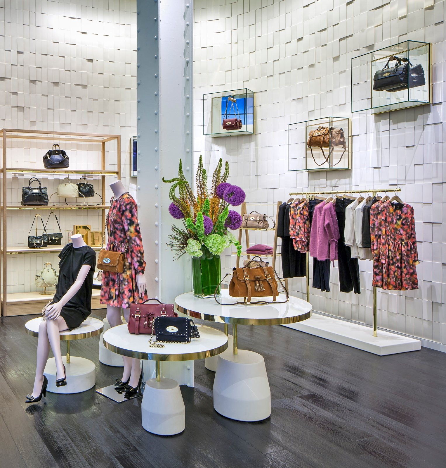 The entrance to Mulberry's Grant Ave. boutique is colorful with local blooms and their latest handbag collection. Photo courtesy of: Mulberry.  Photo 1 of 3 in British Brand Mulberry Opens S.F. Outpost