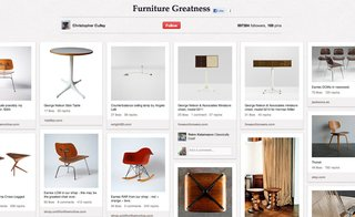 Christopher Culley's Design Furniture Greatness has 169 pins, including shots of furniture from his shop.