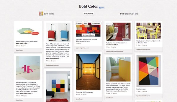 "A splash of color can provide life to an otherwise dull space and a whole lot of color can transform just about anything. We've ""pinned"" a few of our favorite uses of color on this board that inspire us and challenge homeowners to go bold! Click here for more uses of bold color."
