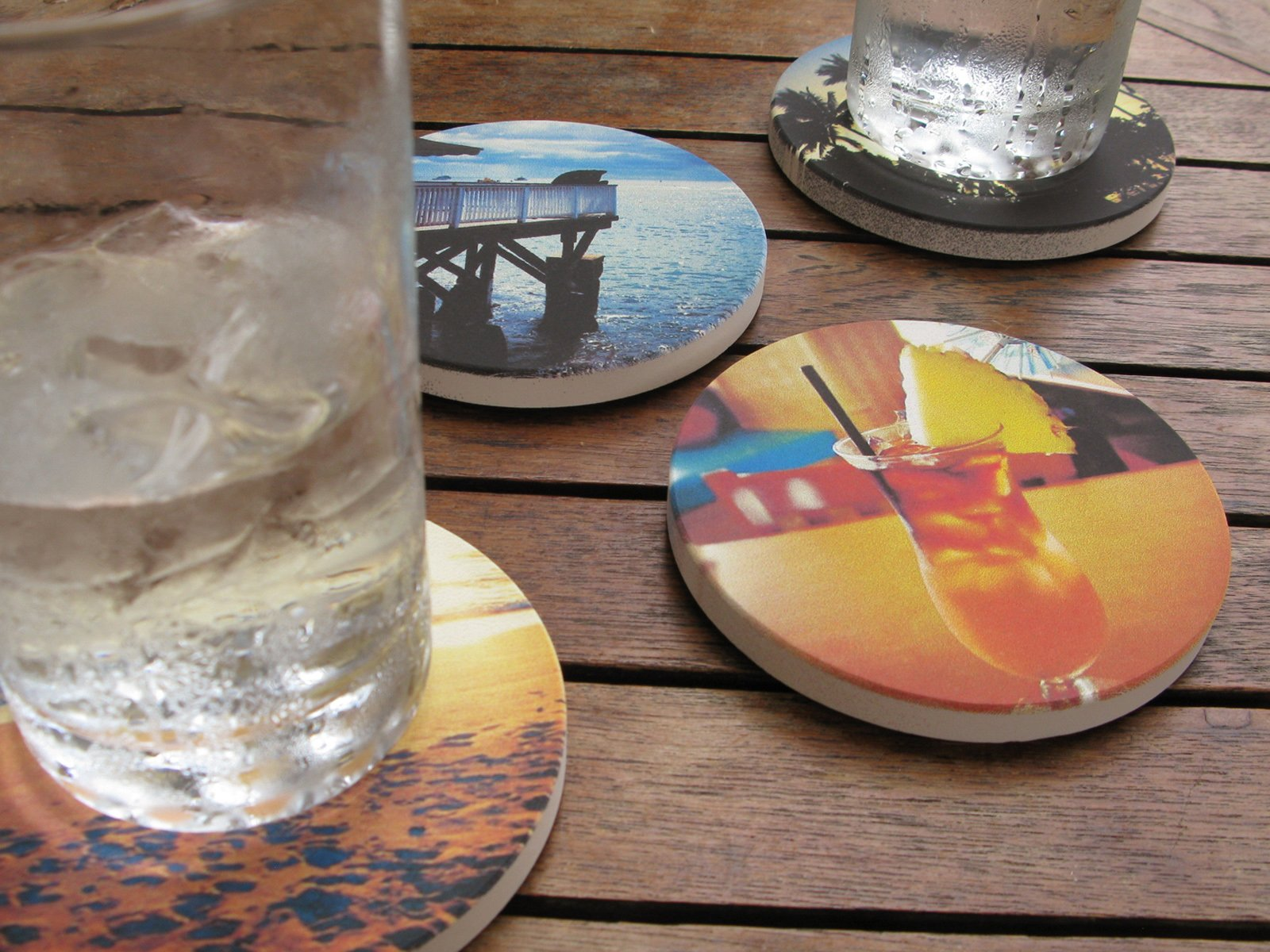 Images are printed by an American manufacturer on a sandstone aggregate.  Photo 3 of 5 in From Phone to Stone: Coastermatic