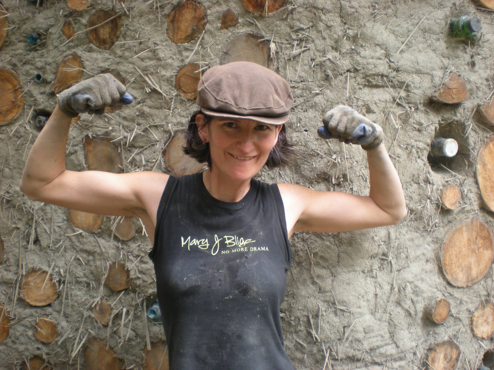 Mud Girl Clare shows off her muscles!  Photo 5 of 5 in Mud Mavens: Mud Girls Founder Jen Gobby