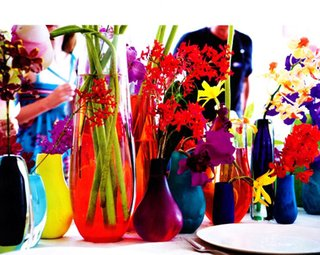 """""""We don't have any specific rituals for entertaining, it changes each time depending on the party and the people. Music's always very important as a way to get people to relax and be in the moment. Of course there's always a good glass of wine, great food and flowers, and a few pieces of Dinosaur Designs to add color to the table,"""" says Ormandy."""