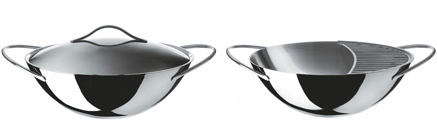 Wok with Lid, $370, part of Alessi's Domenica serving cookware collection by Elisa Giovannoni.  Photo 3 of 4 in Modern Cookware, Old and New