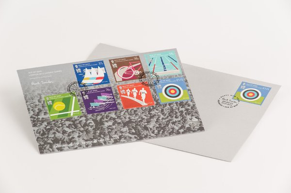Sir Paul Smith: Isle of Man, London 2012 Olympic Games Stamps designed by Paul Smith.
