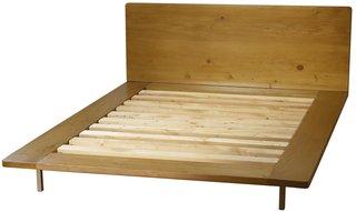 Muir Platform Bed  Design by Nicola Chiala  Made by artisans in Los Angeles  from   Branch  From buildings to your bedroom, this solid, reclaimed douglas fir bed frame is finished with low-VOC, water-based materials and fitted with brushed nickel legs.  From $1,670
