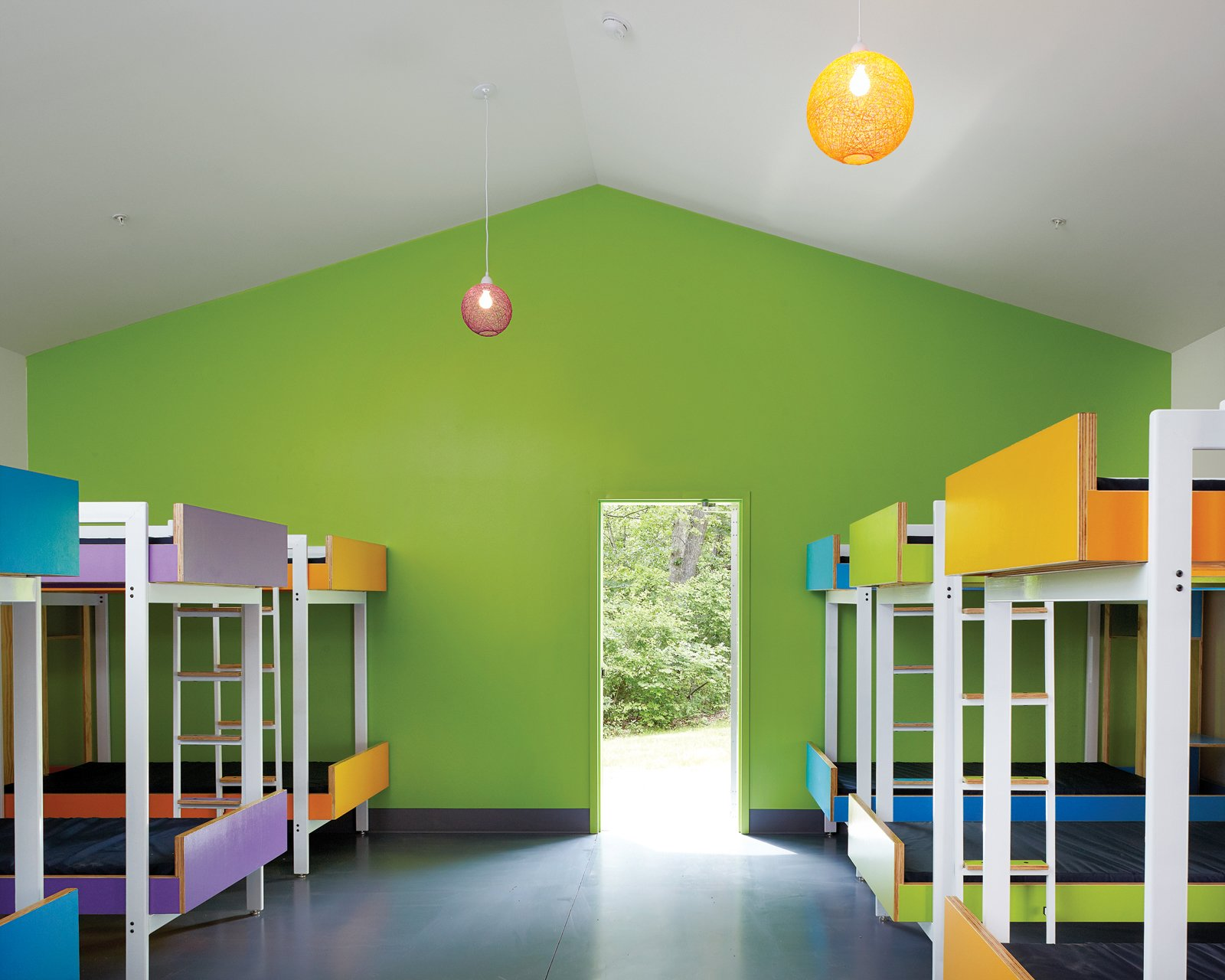 Two El Dorado principals, Douglas Stockman and David Dowell, enlisted the elbow grease of students in their fifth-year design studio at Kansas State University to help design and fabricate the bunkbeds that line the cabin walls. Tagged: Kids Room and Bedroom.  Photo 1 of 2 in Little Cabins on the Prairie
