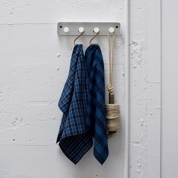 These Indigo Check dishtowels from Cloth and Goods ($30) are made from new Japanese fabrics woven in hand-operated looms.  Photo 2 of 6 in Cloth and Goods