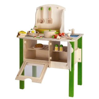 High design and eco-conscious thinking is the hallmark of any good contemporary kitchen, so why are kitchen playsets so stuck in the past?  It has everything your little chef needs to start cooking in style.