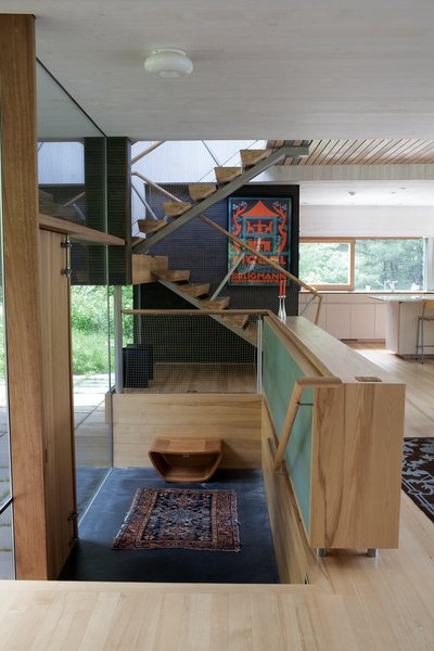 The couple made the house feel even more spacious by flooding a series of levels with natural light.