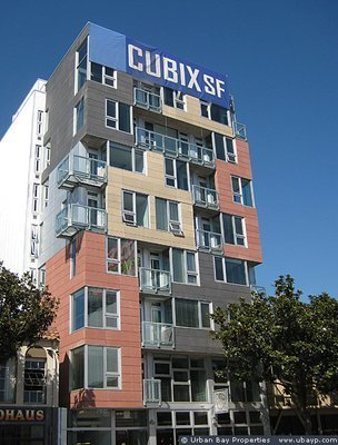 Exterior of the Cubix building in San Francisco.  Photo 2 of 4 in Mini Apartments and Next-Wave Prefab, Part 2