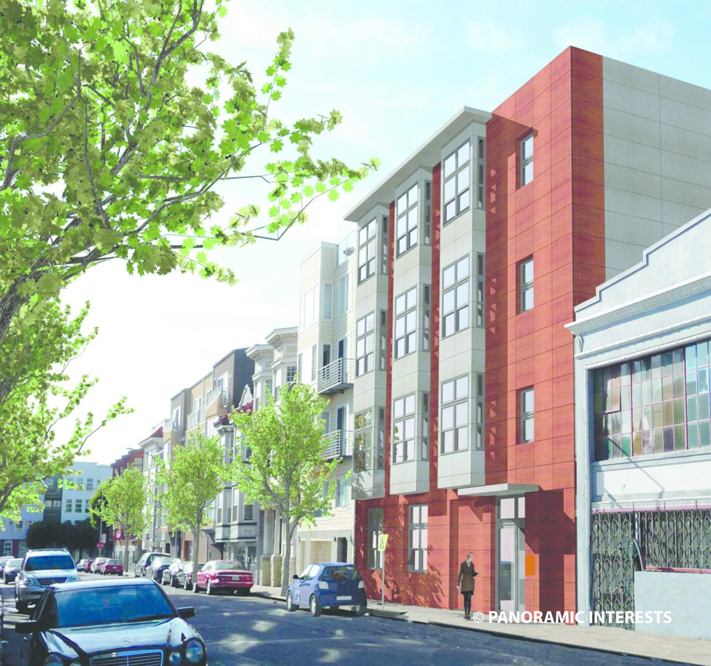 A rendering of the building at 38 Harriet Street in San Francisco's SoMa district.  Photo 4 of 4 in Mini Apartments and Next-Wave Prefab, Part 2