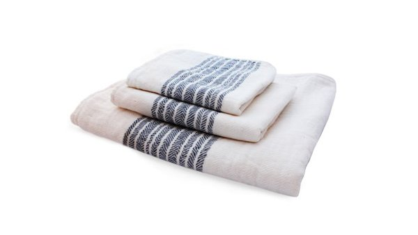 These very special towels from Japan feature two textures: one side is terrycloth, the other a whisper-soft chevron weave. Thinner and lighter than traditional towels, and faster drying yet just as durable, these organic cotton pieces are a sensory treat.  Bath Products We Love by Victoria Nguyen