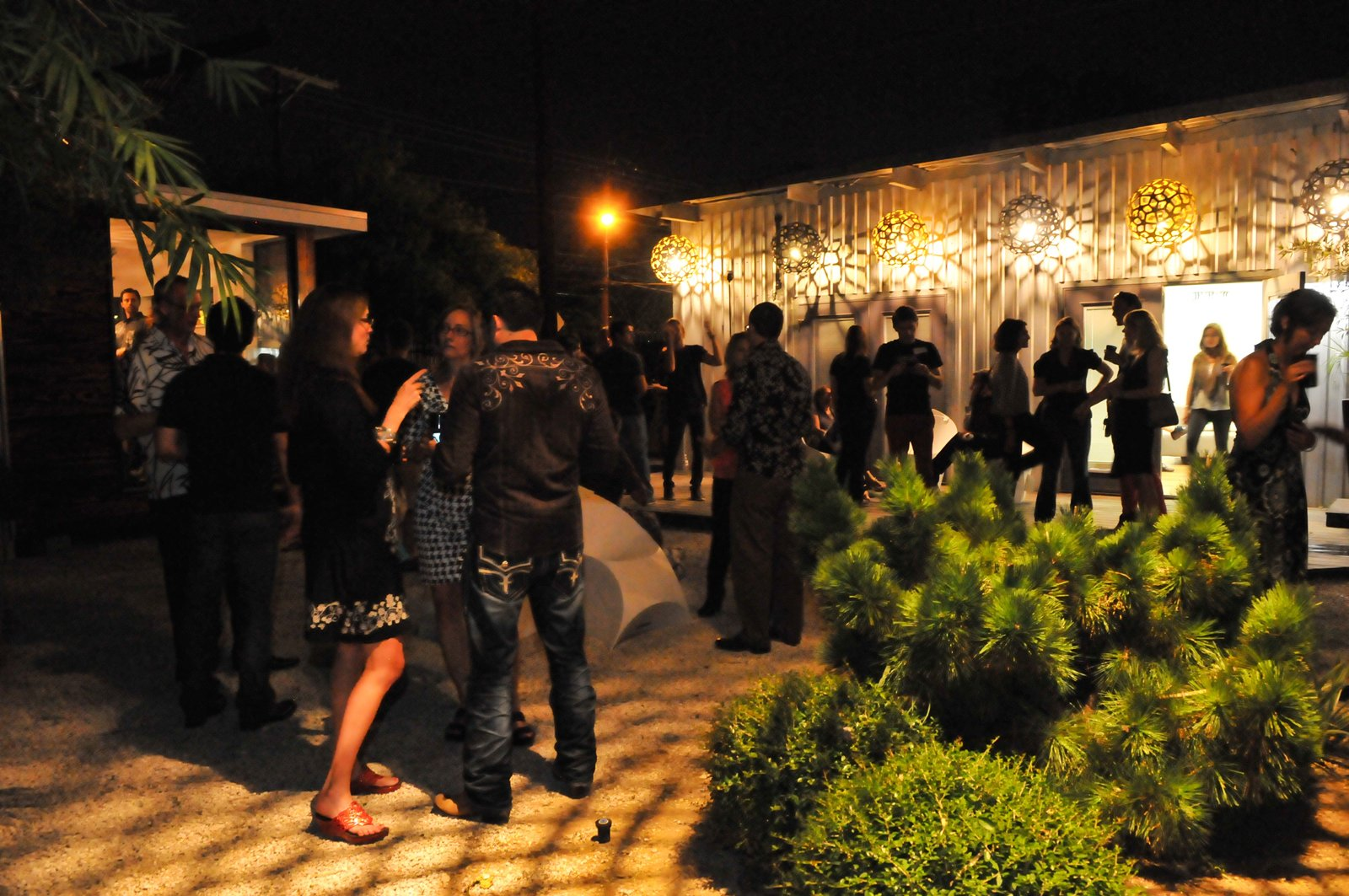 The view from near the DJ booth.  Photo 6 of 20 in Dwell Party Highlights: Celebrating Prefab Design at SXSW Eco