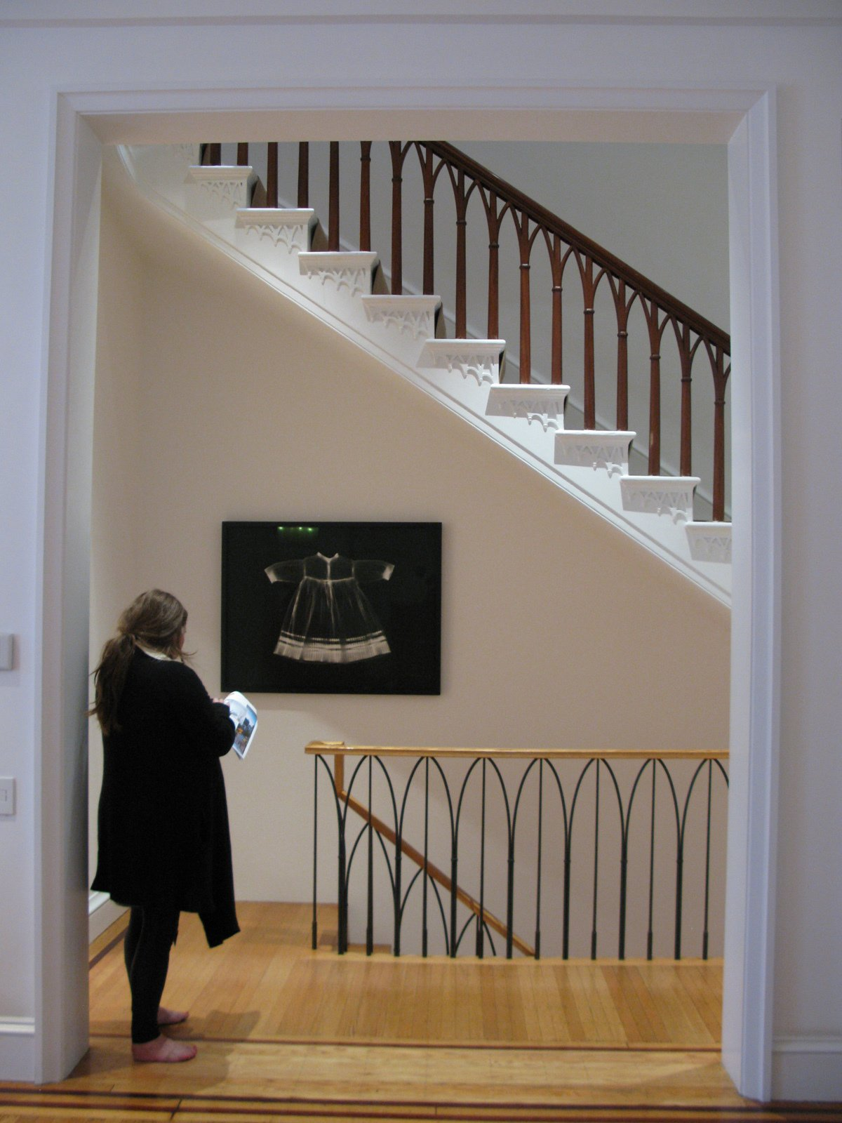 Nineteenth-century detailing stands its ground with the art collection.  Photo 14 of 51 in City Modern Home Tours: Brooklyn