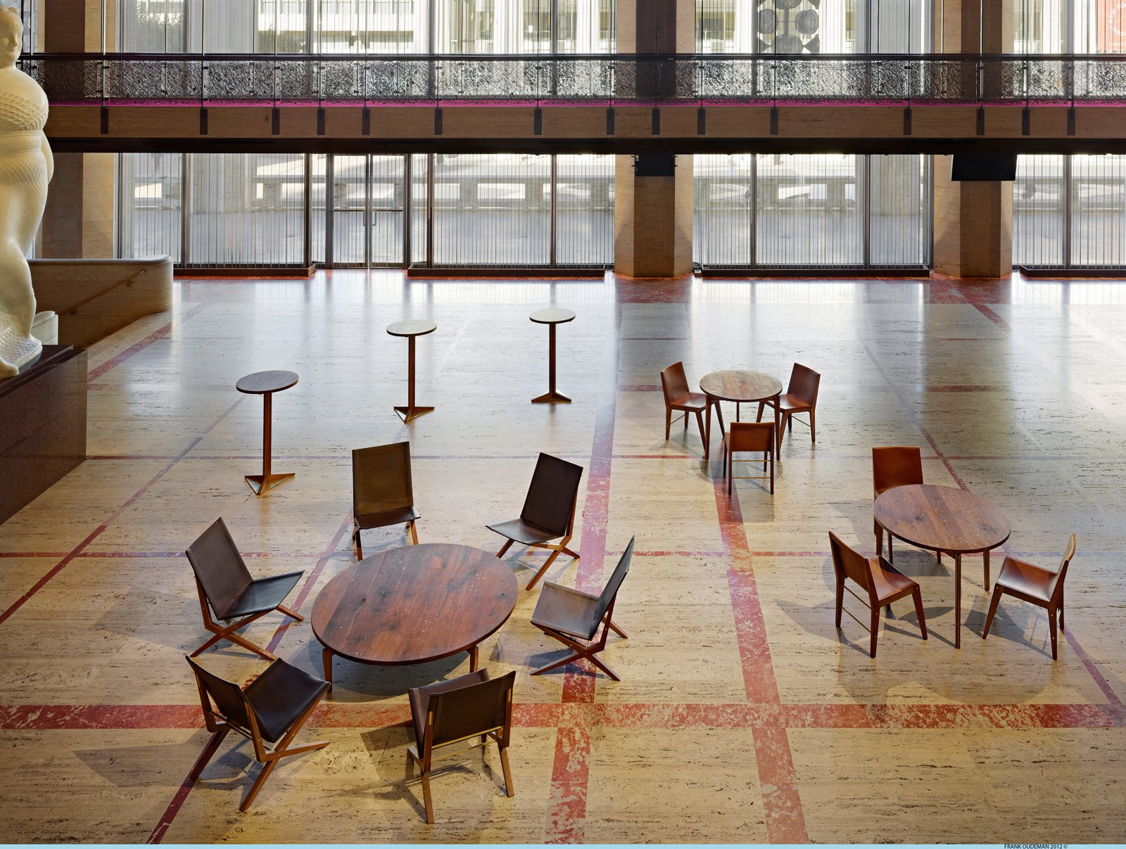 The Promenade of the David H. Koch Theater featuring seating collection designed by Asher Israelow. Photo by Frank Oudeman.  Photo 3 of 6 in The Ballet's Crown Jewels