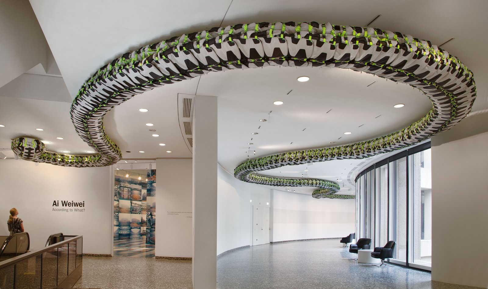 Installation view of Snake Ceiling at the Hirshhorn Museum and Sculpture Garden, Washington D.C., 2012. Photo by Cathy Carver.  Photo 2 of 4 in Ai Weiwei's Washington Moment