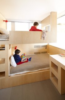 These bunk beds are located just past the wall shown in the previous slide.