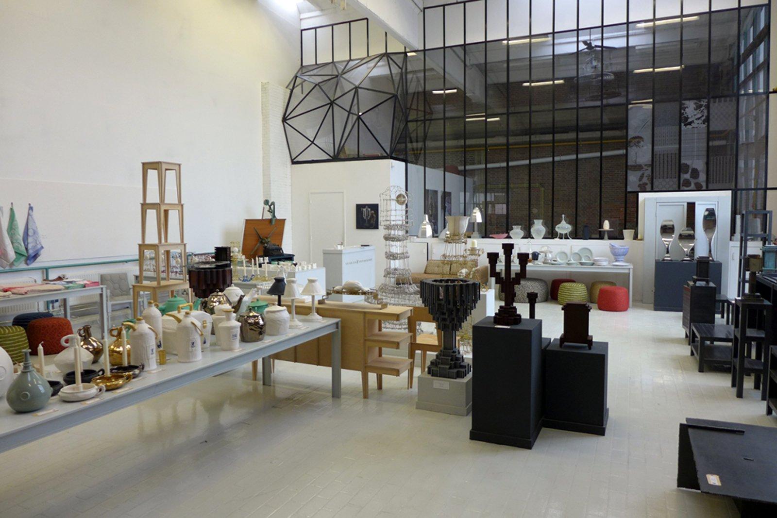 Upper gallery to the studio of Joost van Bleiswijk and Kiki van Eijk, where items on display can purchased.  Dutch Design Week 2012, Pt. 2 by Maarten Dinger