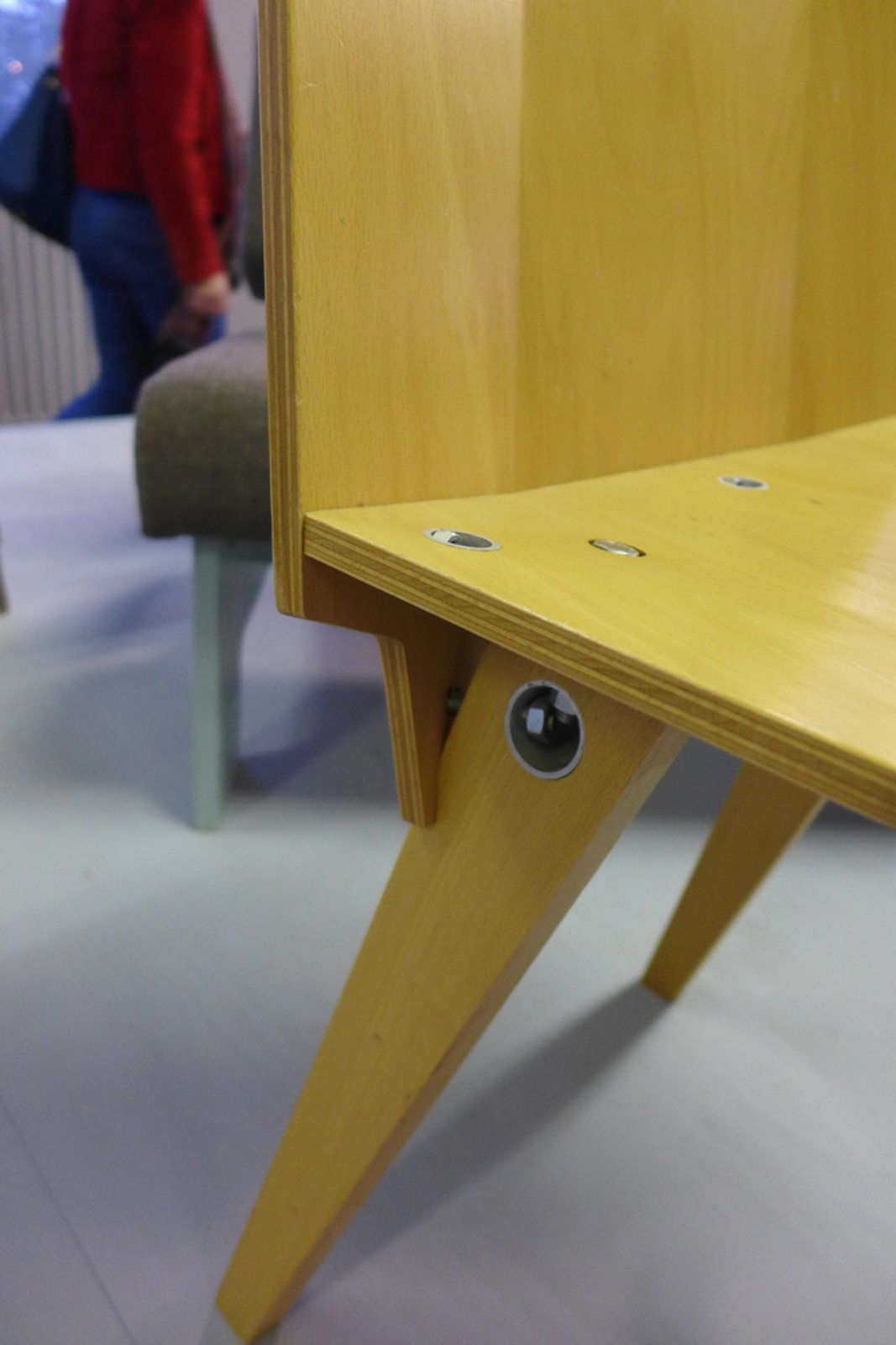 Lovely fixer detail on one of Piet Hein Eek's chairs.  Dutch Design Week 2012, Pt. 2 by Maarten Dinger