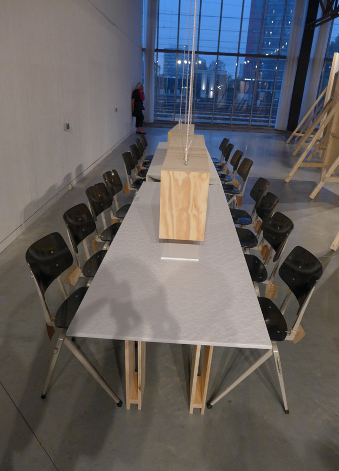 "At Dutch Intertuvals, a dining table was a main player in the show ""Conflict"" in which a combination of slow food and proper fast food was served.  Dutch Design Week 2012, Pt. 2 by Maarten Dinger"