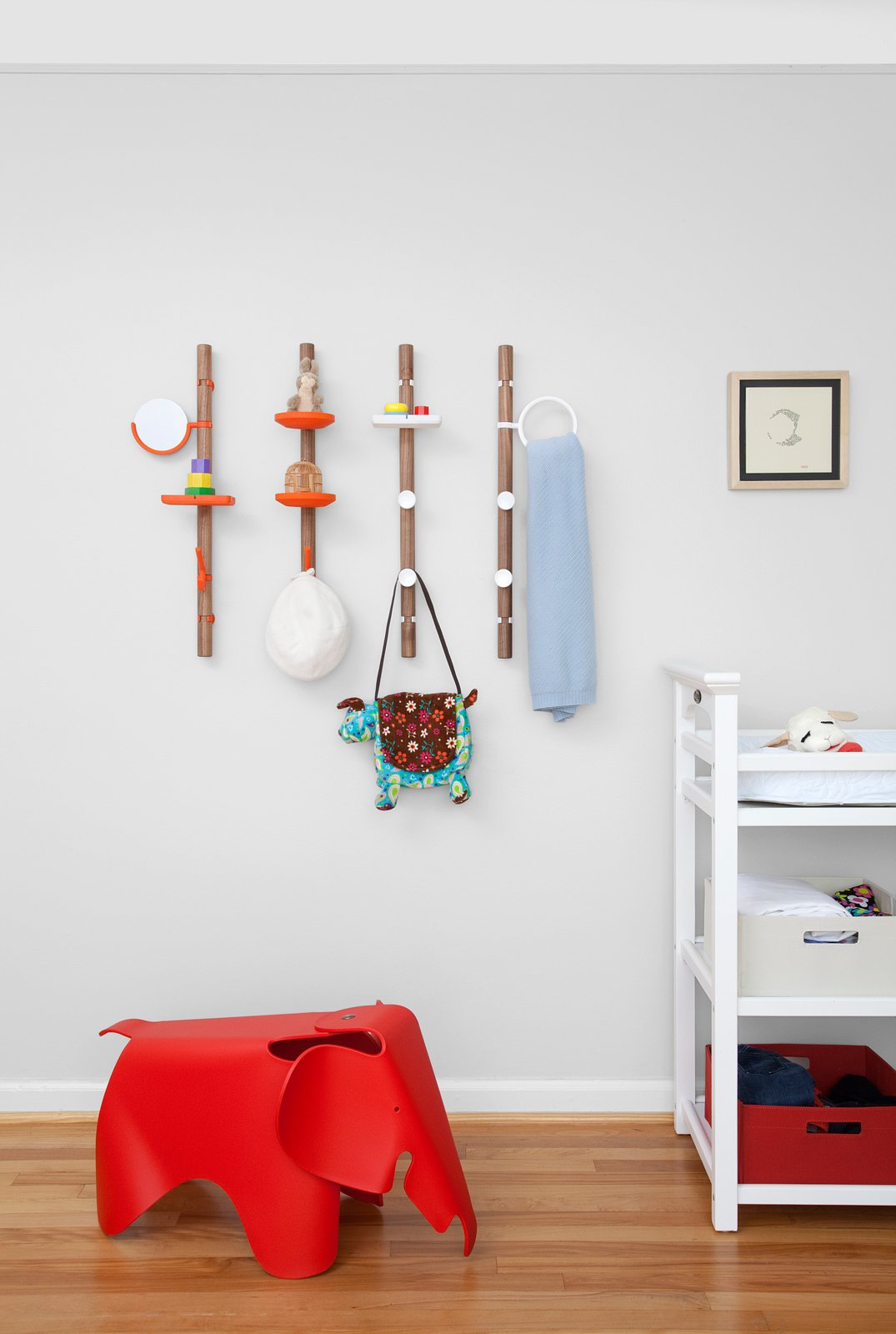"""Kids Room and Bedroom Room Type Plumstead describes the Clip Tree valet as sheet music where the bars are posts and the notes are the adjustable clips.""""I became focused on entry hall,"""" he says of the concept. """"I was trying to come up with a system with fairly simple parts for shipping and manufacturing, and for it to be configurable so people would have authorship over the object.""""  Search """"landscapes--trees"""" from Designer Spotlight: Matthew Plumstead"""