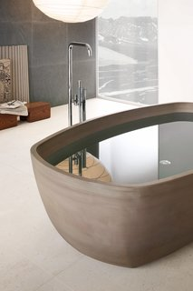 Inkstone bathtub, Sand Brown stone.