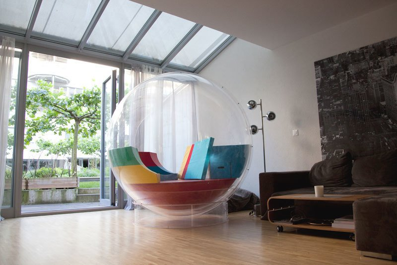 Cocoon can also become a room within a room.  Photo 4 of 5 in Living in a Cocoon