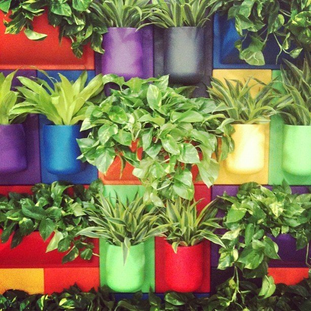 Kul's vertical gardening system made from recycled plastic was really eye catching. We loved the colorful array of planters, which really brightened the show floor.  Highlights from Greenbuild 2012 by Diana Budds