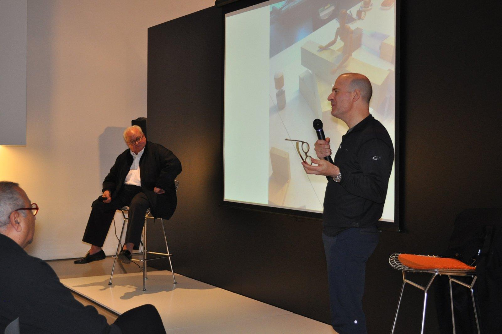 "Benjamin Pardo and Jeffrey Osborne talk onstage while Nasir Kassamali listens from the the first row.  Search ""영동키스의민족스케줄춘천출장만남(TALK:za32)24시간 상담가능 합니다"" from Nasir Kassamali: Design Lives"