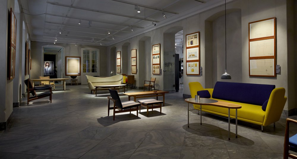 "The main exhibition gallery for Designmuseum Danmark's Finn Juhl centennial exhibition, ""Furniture for the Senses."" The museum building was first opened in 1895 in central Copenhagen.  Finn Juhl Centennial at Designmuseum Danmark by Kelsey Keith"