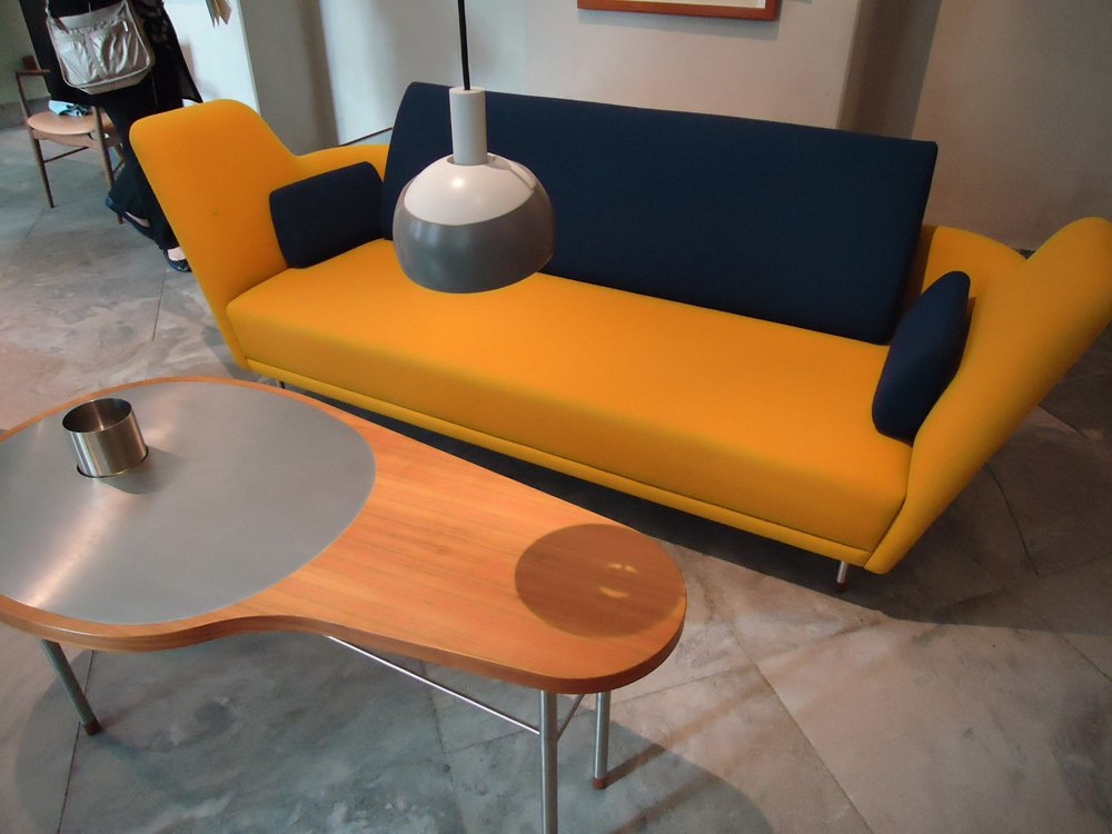 More expressive furniture by Juhl, including the groovy Ross Coffee Table (1948).  Finn Juhl Centennial at Designmuseum Danmark by Kelsey Keith