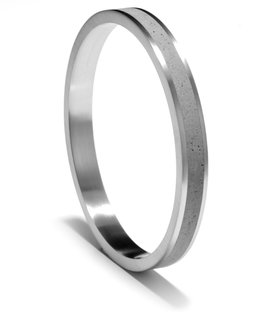 The KMR158 ring. Konzuk also carries tension set diamond rings.