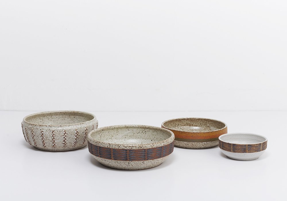 Ceramic bowls by Los Angeles artists Kat and Roger Lee.  Mohawk General Store Holiday Market by Diana Budds